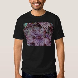 Miscellaneous - Purple Shiso & Leaves Pattern T-shirts