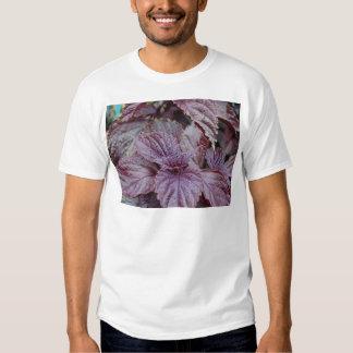 Miscellaneous - Purple Shiso & Leaves Pattern Tshirt