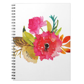 Miscellaneous - Watercolor Flowers Eleven Notebook