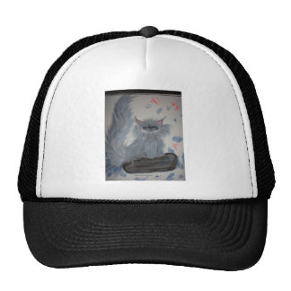 mischeivious kitten trucker hat