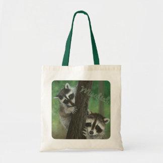 Mischief Raccoon up a Tree bag