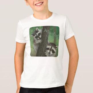 Mischief Raccoon up a Tree shirt