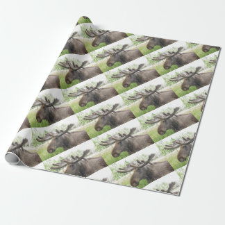 Mischievious Moose Wrapping Paper