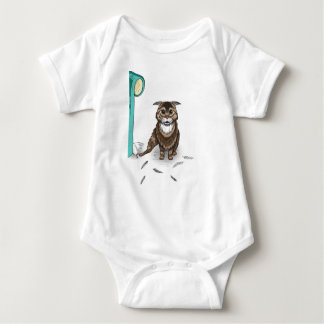mischievous cat series by Ben Jones Baby Bodysuit