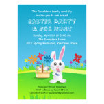Mischievous Easter Bunny Party Personalized Invitation
