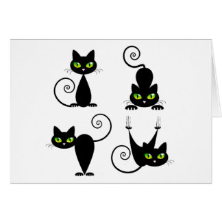 Mischievous kitties card