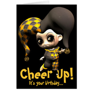 Mischievous Little Jester Greeting Cards