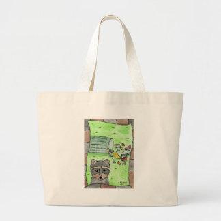 Mischievous Racoon Tote Bags