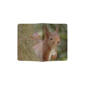 Mischievous Red Squirrel Passport Holder