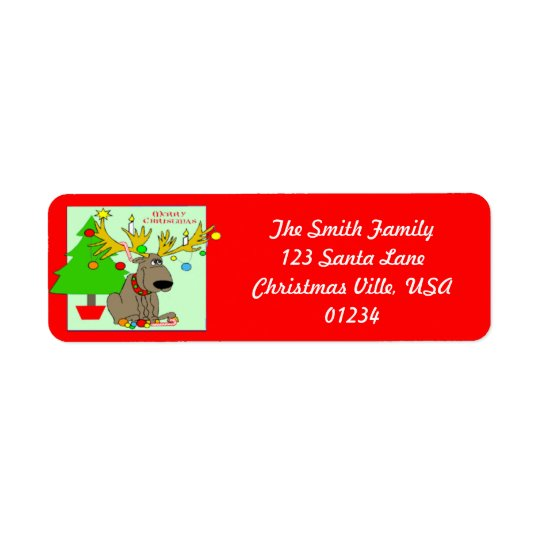 Mischievous Reindeer Address Labels