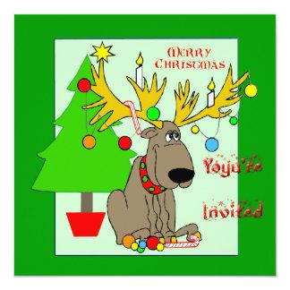 Mischievous Reindeer Christmas Invitation