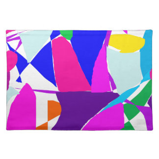Mischievous Tile Stained Glass Oriental Wind Placemat