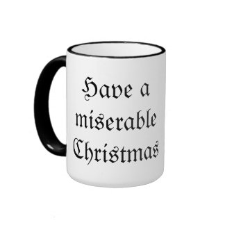 Miserable Christmas Goth Mug