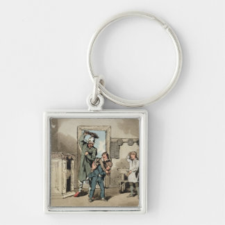Misery, 1807 (etching) Silver-Colored square key ring