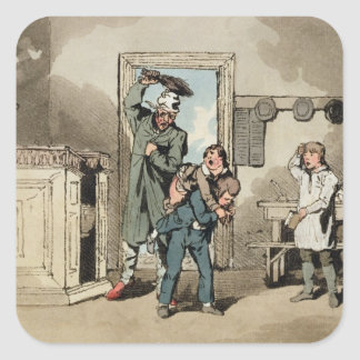 Misery, 1807 (etching) square sticker