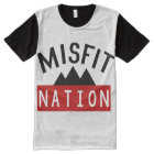 Misfit (Misfit Nation) All-Over Printed Panel Tee
