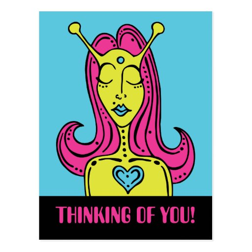 Misfit Thinking of You! Postcard