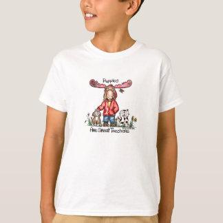 Misha Moose and Puppies T Shirt