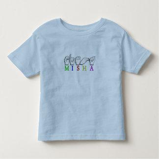 MISHA   NAME ASL FINGER SPELLED TODDLER T-Shirt