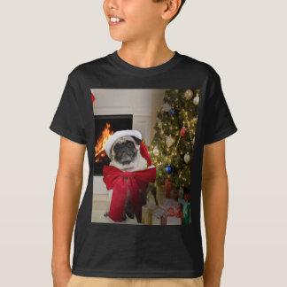 Misha pug wearing a bow for the Christmas holiday. Tshirt