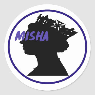 Misha & the Queen Round Sticker