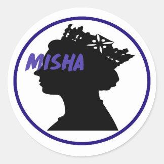 Misha & the Queen Round Sticker
