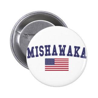 Mishawaka US Flag 6 Cm Round Badge