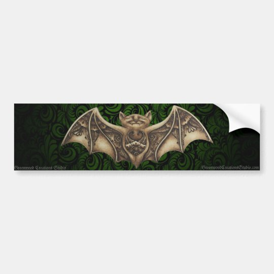 Mishkya the Bat Bumper Sticker
