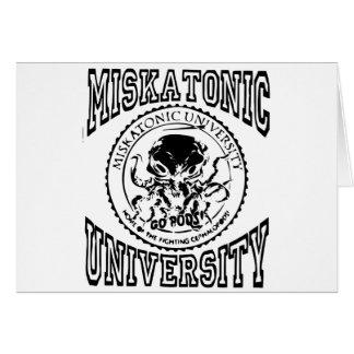 miskatonic greeting card