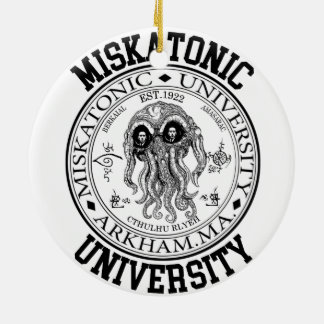 Miskatonic University CTHULHU HP LOVECRAFT Christmas Ornament