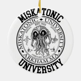 Miskatonic University CTHULHU HP LOVECRAFT Christmas Ornament