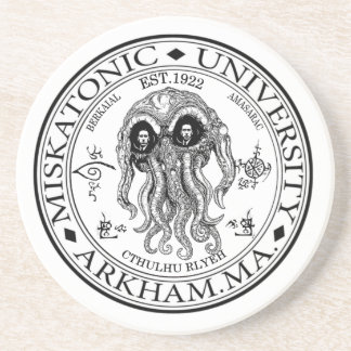 Miskatonic University CTHULHU HP LOVECRAFT Drink Coaster