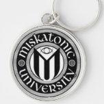 Miskatonic University Silver-Colored Round Key Ring
