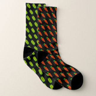 Mismatched Peas and Carrots Socks