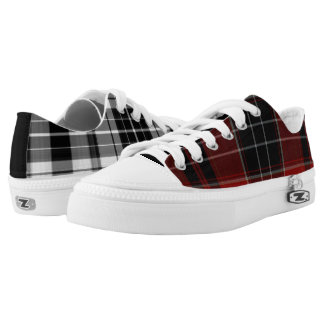 Mismatched Plaid Printed Shoes