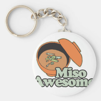 Miso Awesome Basic Round Button Key Ring