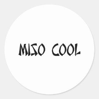 Miso Cool Item Round Sticker