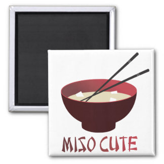 Miso Cute Square Magnet