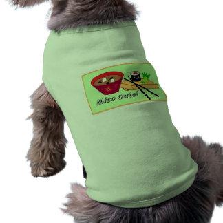 Miso Cute Sushi Pet/Dog Shirt Sleeveless Dog Shirt