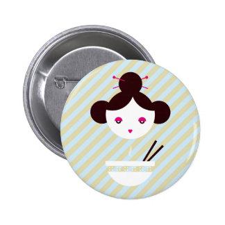 Miso girl 6 cm round badge
