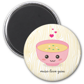 Miso Love You 6 Cm Round Magnet