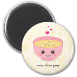 Miso Love You Refrigerator Magnets