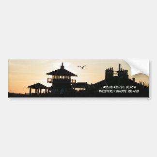 Misquamicut Beach Rhode Island Bumper Sticker