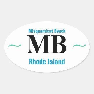 MISQUAMICUT BEACH stickers (4)