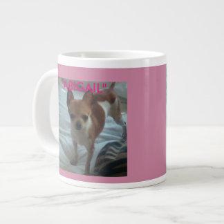 Miss Abigail (Pink) Large Coffee Mug