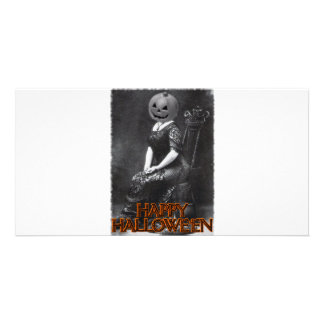 Miss Alicia Pumpkinhead Personalized Photo Card