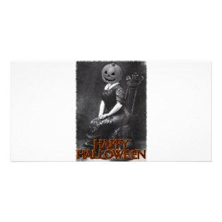 Miss Alicia Pumpkinhead Personalized Photo Card