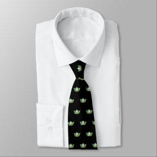 Miss America Apple Green Crown Men's Tie
