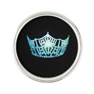 Miss America Aqua Crown Lapel Pin