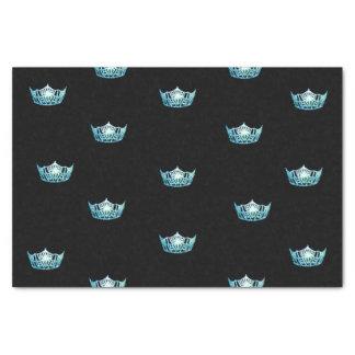 Miss America Aqua Crown Tissue Paper